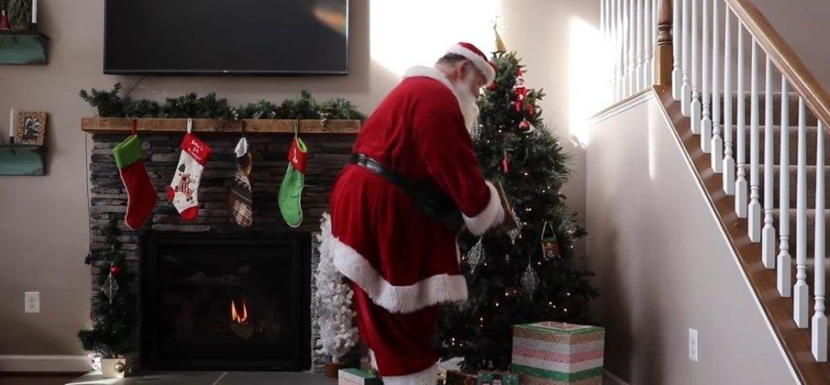 Santa in the Living Room