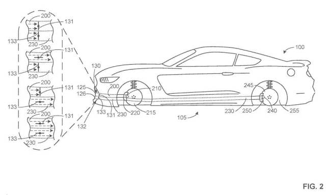 2020 Shelby GT500 patent drawing.