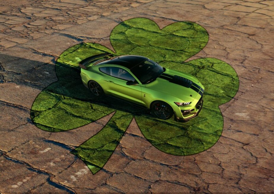 Heritage-Inspired Grabber Lime 2020 Ford Mustang - Saint Patrick's Day