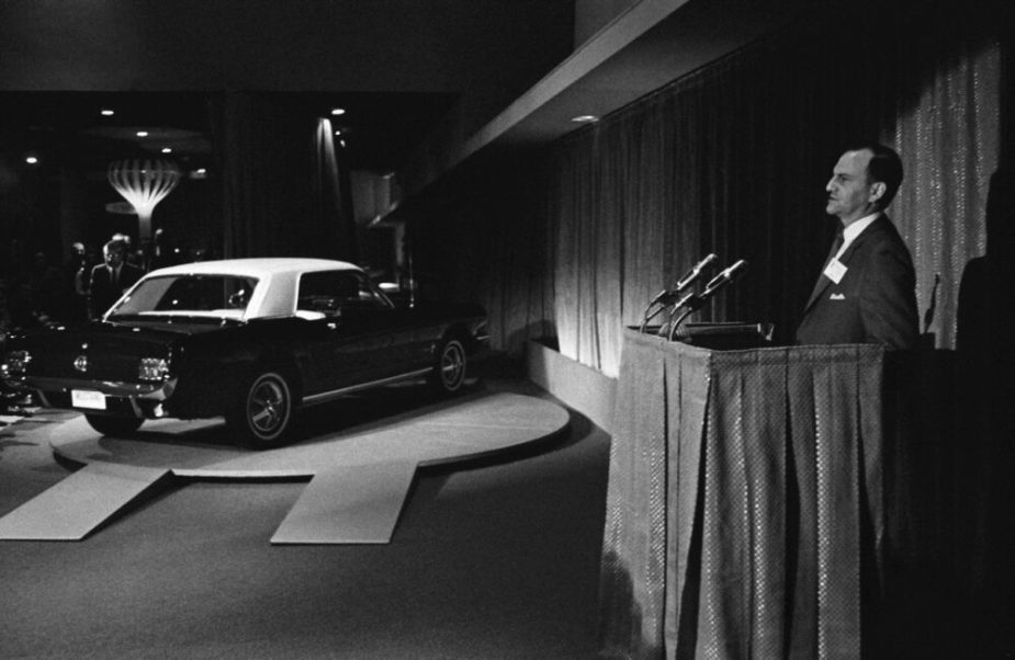 Lee Iacocca Introduces Mustang at 1964 World's Fair