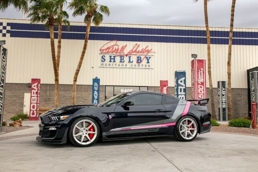 One-of-a-Kind Pink and Blue Shelby GT500SE Races For a Cure