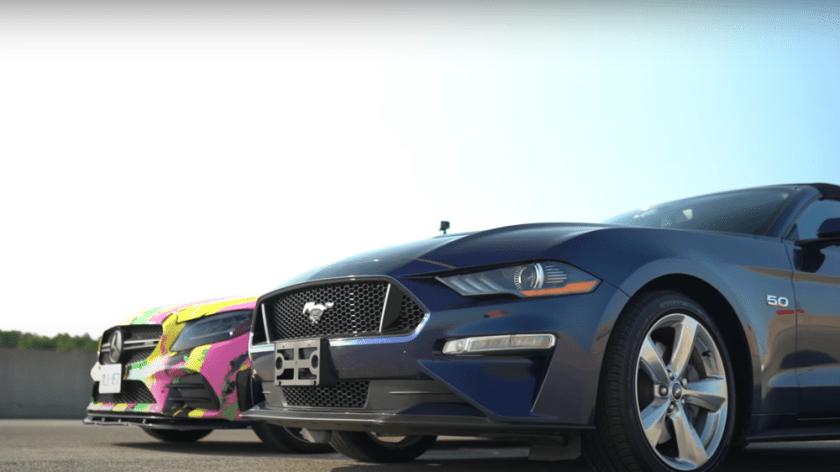 S550 Mustang GT vs Mercedes C43 AMG Drag Race