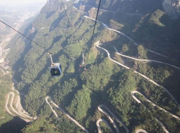 estrada da montanha tianmen
