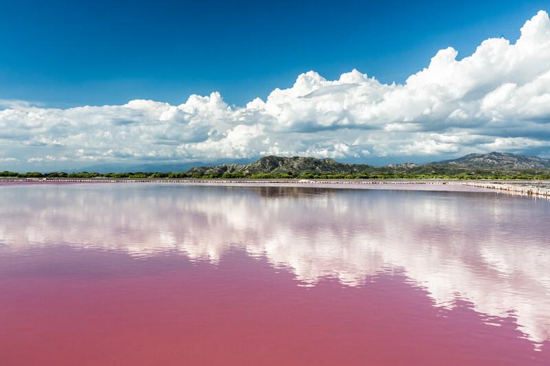 Lake Retba (Lac Rose), the Pink Lake of Senegal.