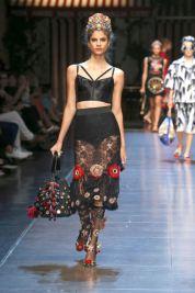 74-dolce-and-gabbana-spring-summer-2016-black-lace-cami-top-crop-skirt-red-flowers-sheer-embellished-socks
