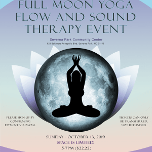 Full Moon Yoga And Sound Therapy Flyer
