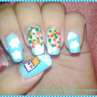 The Disney Movie 'UP' Inspired Nail Art