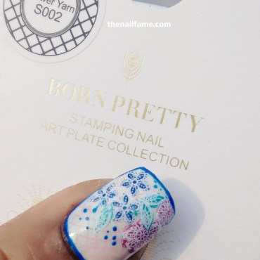BORN PRETTY STORE | FLOWER YARN S002 STAMPING PLATE REVIEW