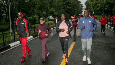 Photo of Eliud Kipchoge & wife join Margaret Kenyatta for a Morning Run at State