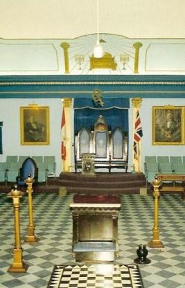 Masonic Temple, Stanley Lodge, 151 Annette St., interior