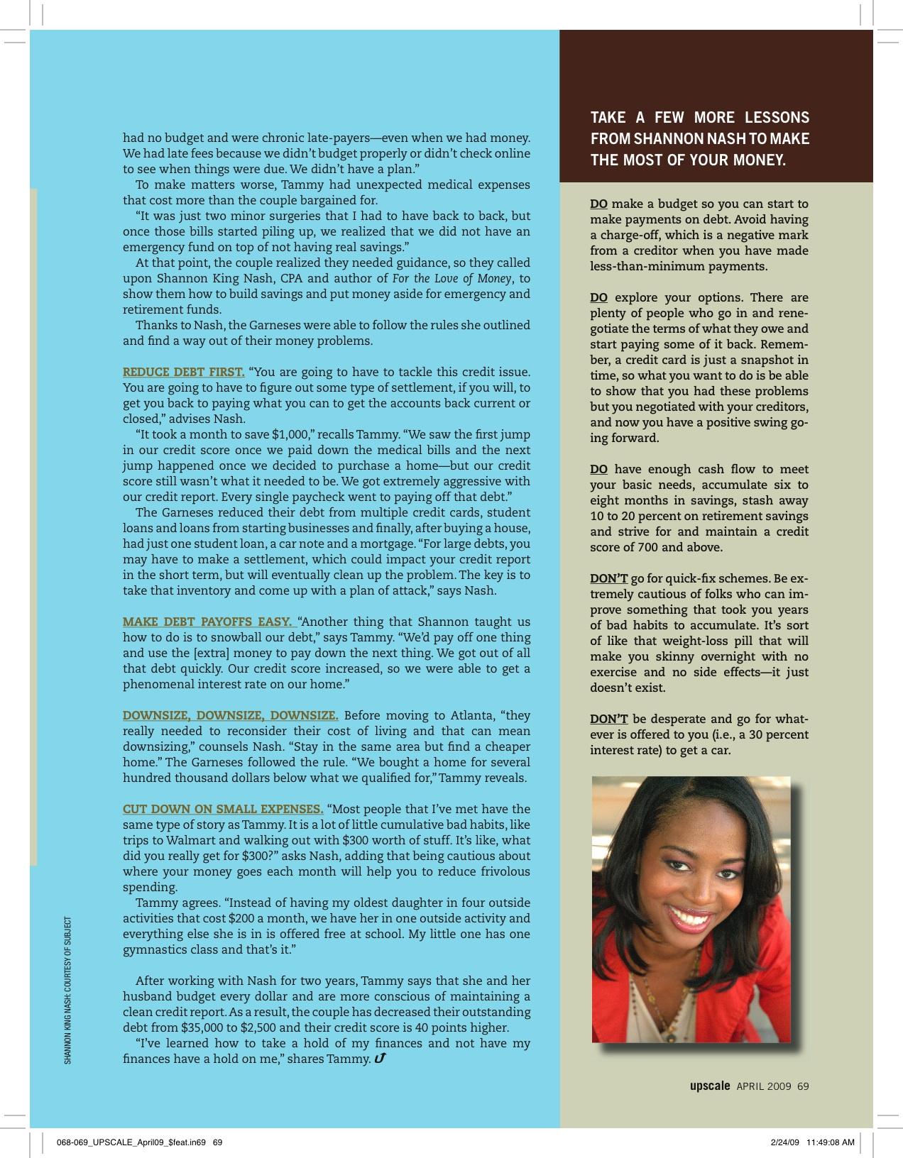 Upscale Magazine April 2009 (2)