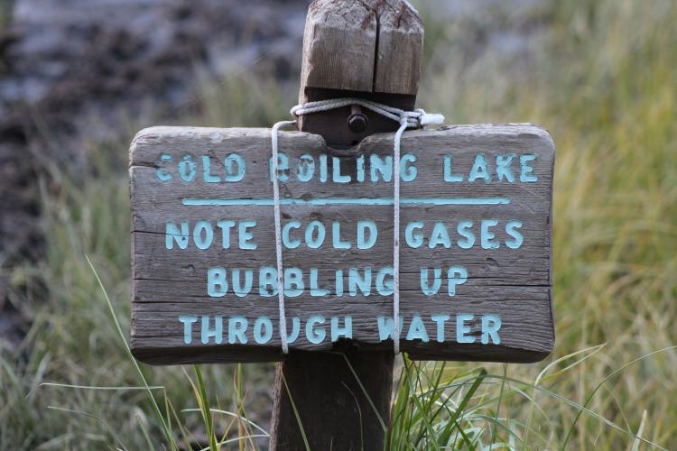 Sign in Lassen National Forest