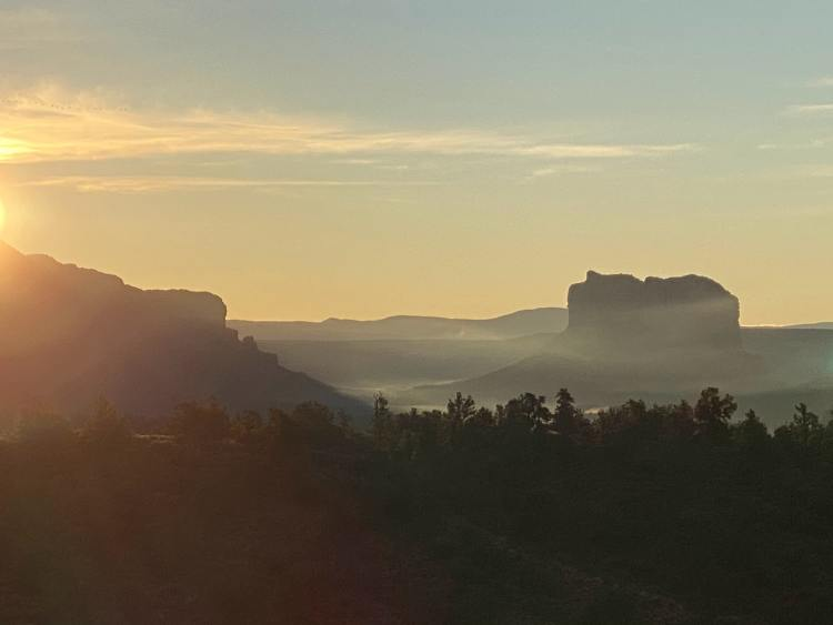 Sunset in Coconino National Forest