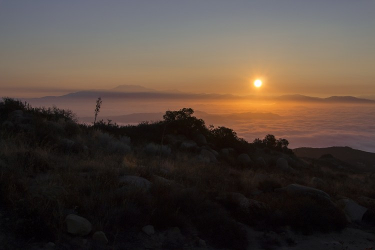 A sunrise in Cleveland National Forest