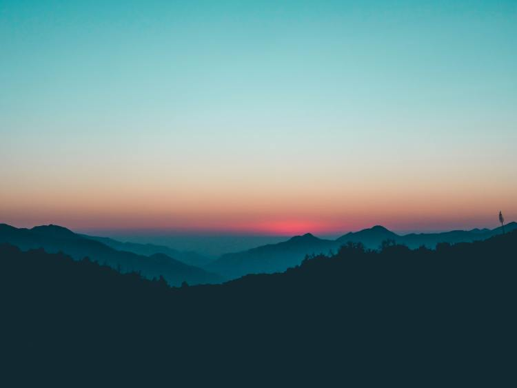 Sunset in Angeles National Forest