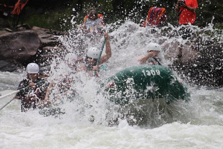 Whitewater rafters in Cherokee National Forest