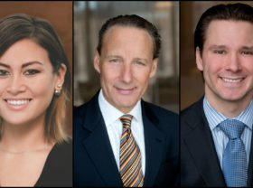 Attorneys Eirene N. Salvi, Patrick A. Salvi, and Patrick A. Salvi II of Chicago.