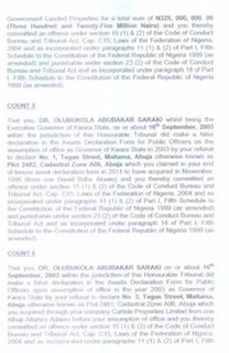 Charges against Saraki