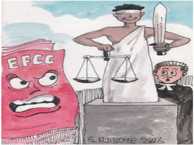 EFCC, Tarfa, lawyers and journalists