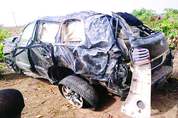 Minister, wife, son die as SUV somersaults