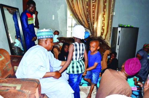 Shettima presents N10m to widow, children of Lt. Col. Ali