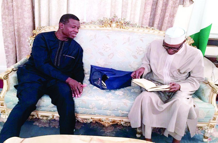 Image result for Adeboye visits Buhari