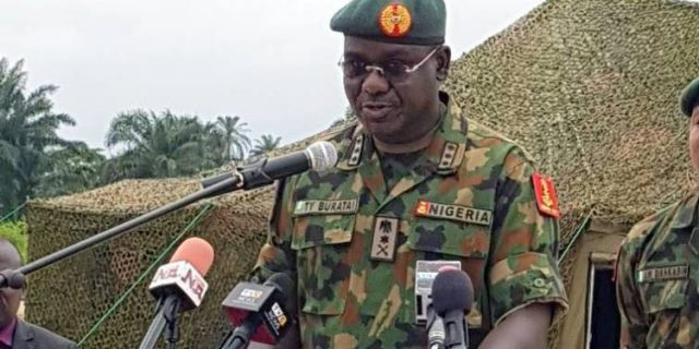 Don't give terrorist breathing space, Buratai tells troops