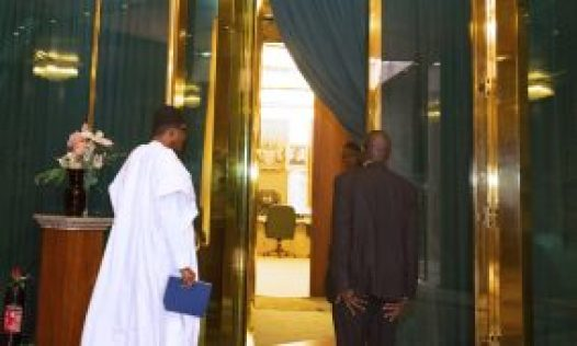 [object object] PHOTOS: Buhari meets COVID-19 Presidential Committee PRESIDENT BUHARI METS CORONAVIRUS COMMITTEE ON THE ECONOMY 1B 283x170