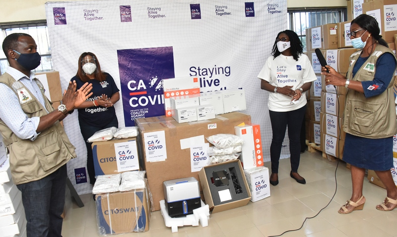 CACOVID donates N1.4b COVID-19 equipment - The Nation Nigeria