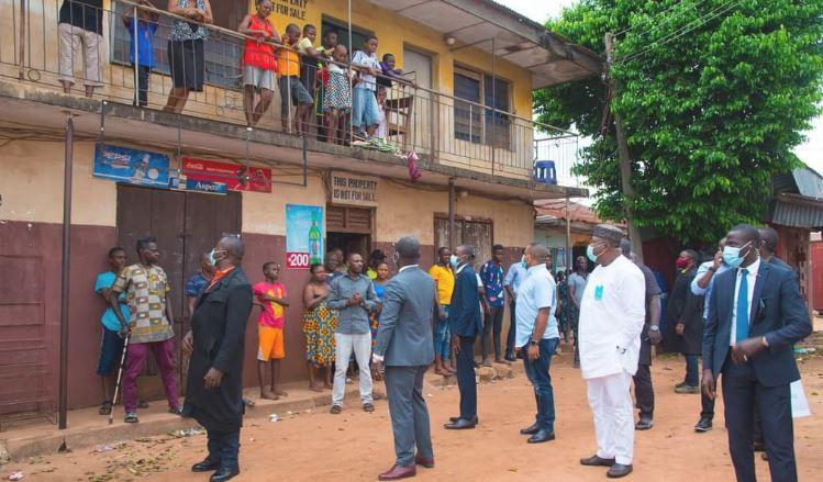 PHOTOS: Gov Ugwuanyi visits scene of IPOB, security agencies clash