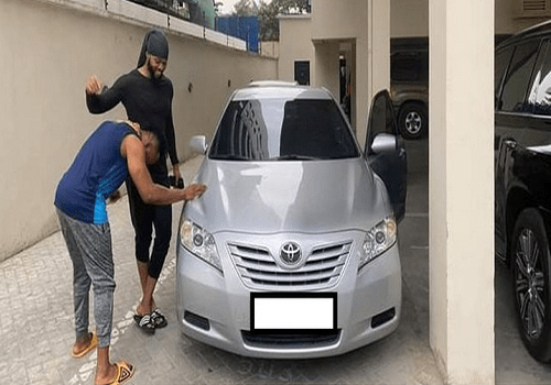 Flavour shocks childhood friend with car gift