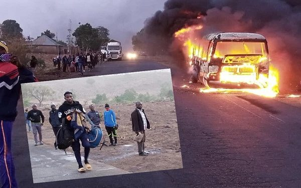 UPDATED: Wikki FC players escape death as bus goes up in flames
