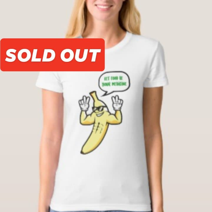 Woman's organic white banana t-shirt $29.60