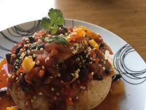 Vegan Pumpkin and Black Bean Chilli