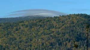 Lenticular cloud over Clingmans Dome. GSMA photo