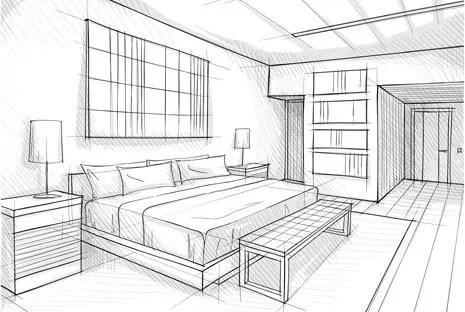 components of a natural bedroom