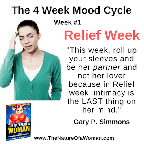 Relief Week from The Nature of a Woman Navigating Her 4 Week Mood Cycle by Gary P Simmons