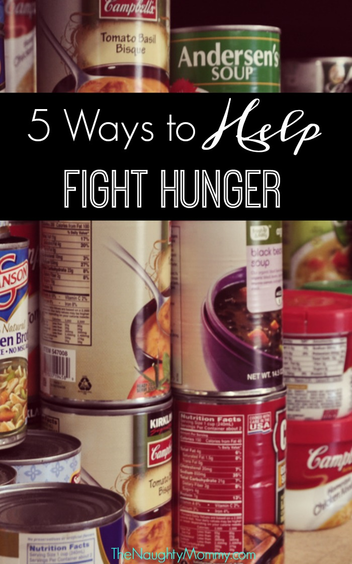 5 ways to help fight hunger