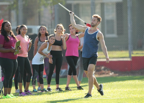 What happened on The Bachelor last night track and field