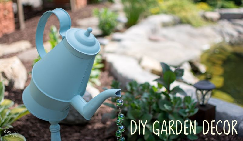 DIY Garden Decor, shared by The Navage Patch at The Chicken Chicken Chick's Clever Chicks Blog Hop