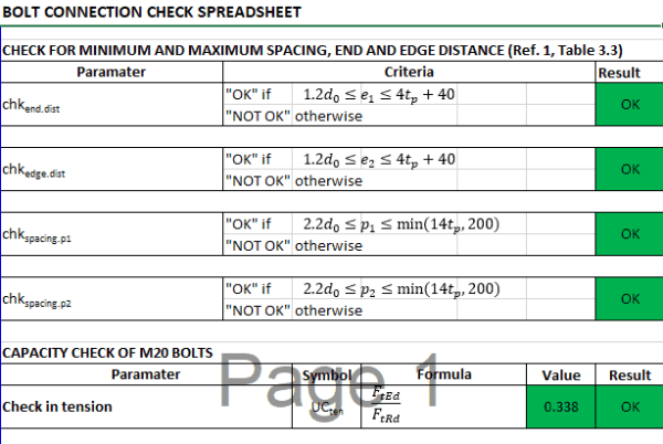 Bolt check TheNavalArch Excel4