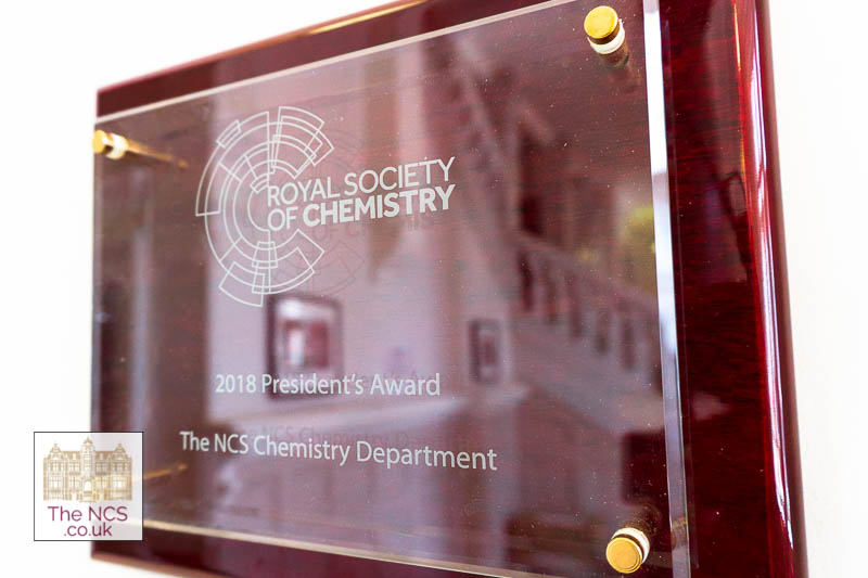 Newham Collegiate Sixth Form Centre (The NCS) Chemistry Department Awarded The Royal Society Of Chemistry's President's Award