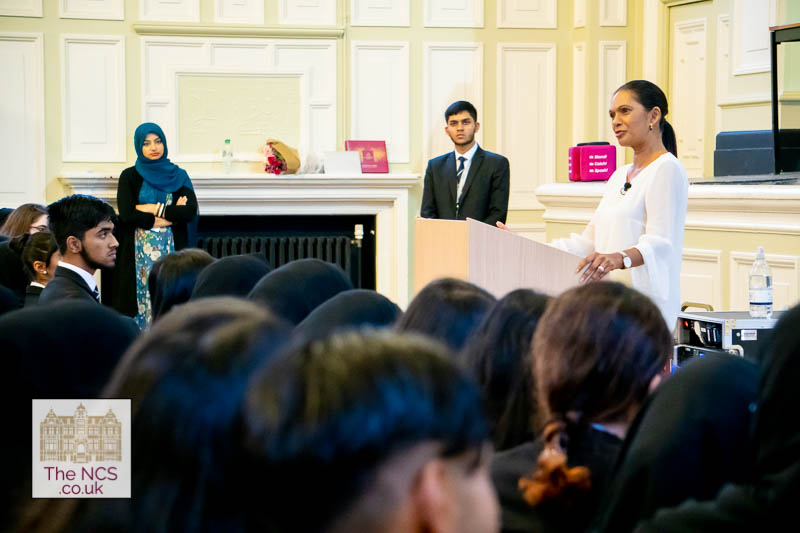 Gina Miller, Brexit Campaigner, speaking at Newham Collegiate Sixth Form Centre (The NCS)