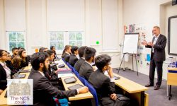 Metro Bank Founder Anthony Thompson Lectures On The Banking Sector With Newham Collegiate Sixth Form Centre (The NCS) Economists