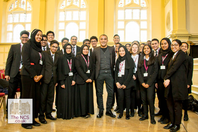 Broadcaster, Writer And Actor Adil Ray Visits Newham Collegiate Sixth Form Centre (The NCS) For A Student Led Interview