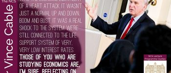QUOTE Sir Vince Cable Delivers A Lecture To Newham Collegiate Sixth Form Centre (The NCS) Students - In Video