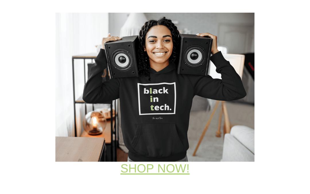 black in tech custom hoodie