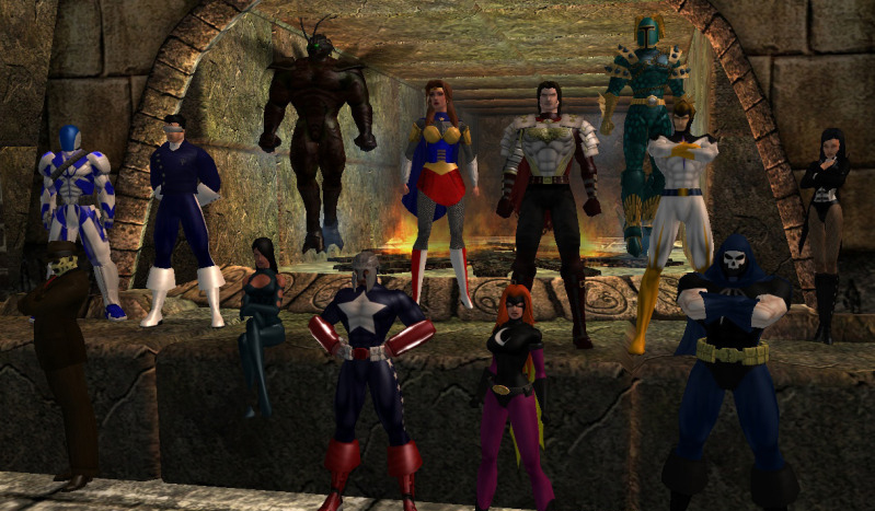 City of Heroes is an example of a great game with uninspired guild-building tools. I was the giant bug, by the way.