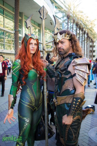 Mera and Aquaman by @jokerskisscosplay and @aztonystark
