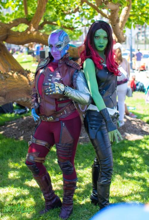 Nebula and Gamora by @amberskiescosplay and @saramonicosplay
